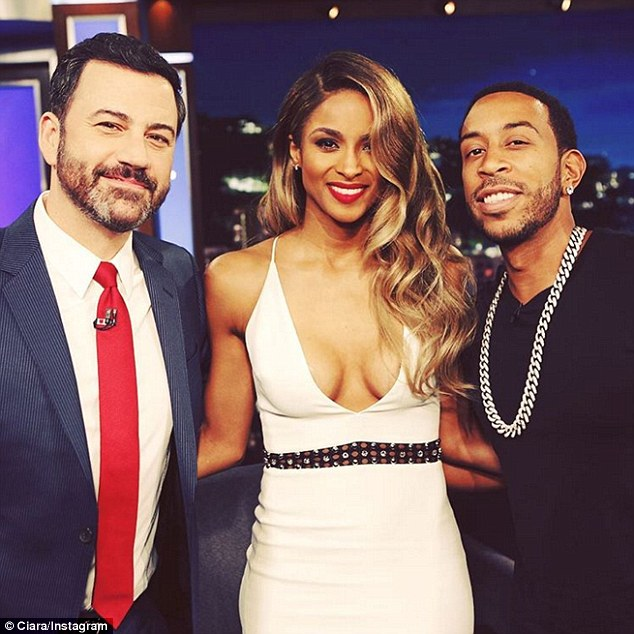 Hard at work: Ciara appeared on the show wit her Billboard Awards co-host Ludacris, right