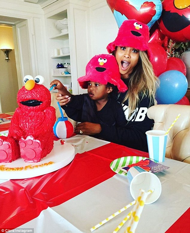 Busy day: The doting mother-of-one had also celebrated her son Future Jr's second birthday