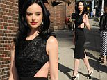 Actresses Krysten Ritter and Ana Villafane visit The Late Show with Stephen Colbert, at the Ed Sullivan Theatre Stage Door in NYC\n\nPictured: Krysten Ritter\nRef: SPL1287048  200516  \nPicture by: Johns PKI / Splash News\n\nSplash News and Pictures\nLos Angeles: 310-821-2666\nNew York: 212-619-2666\nLondon: 870-934-2666\nphotodesk@splashnews.com\n