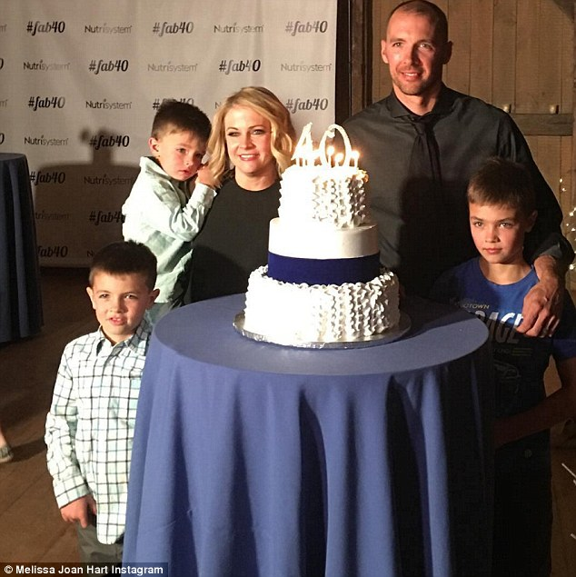 Aww:Melissa's actual birthday was on April 18, and the star celebrated her 'fab 40' surrounded by her loved ones, including her husband Mark Wilkerson and their three sons, Mason, Braydon, and Tucker