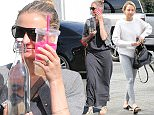 So shy! Cameron Diaz and  Nicole Richie leaving beauty salon in Hollywood  may 20, 2016  Luis/X17online.com
