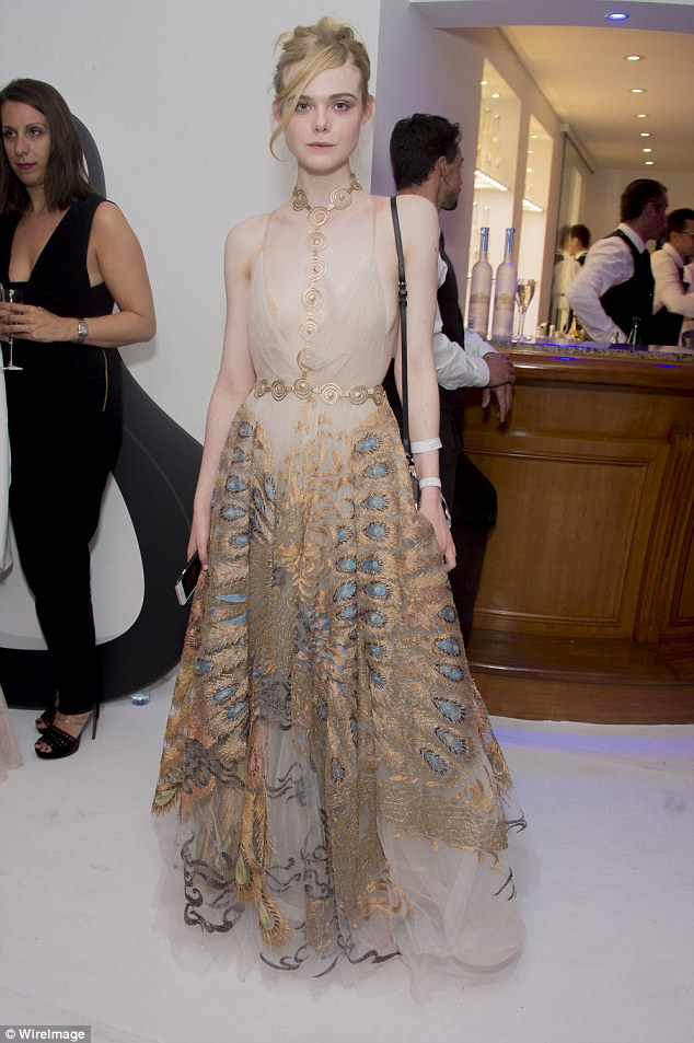 Hollywood's finest: Elle Fanning continued the party into the night with star-studded guests