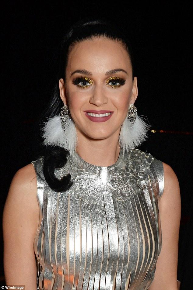 Kooky: To the space age look, Katy added pompom earrings