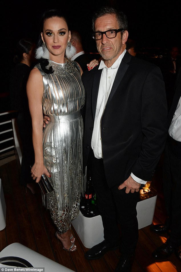 Hanging out: In the absence of Orlando, Katy accompaniedKenneth Cole