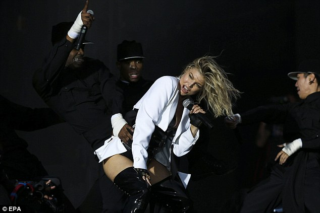 Helping hand: The singer is making her solo comeback with her 2015 album, Double Dutchess, after fronting the popular band the Black Eyed Peas, which disbanded in 2011