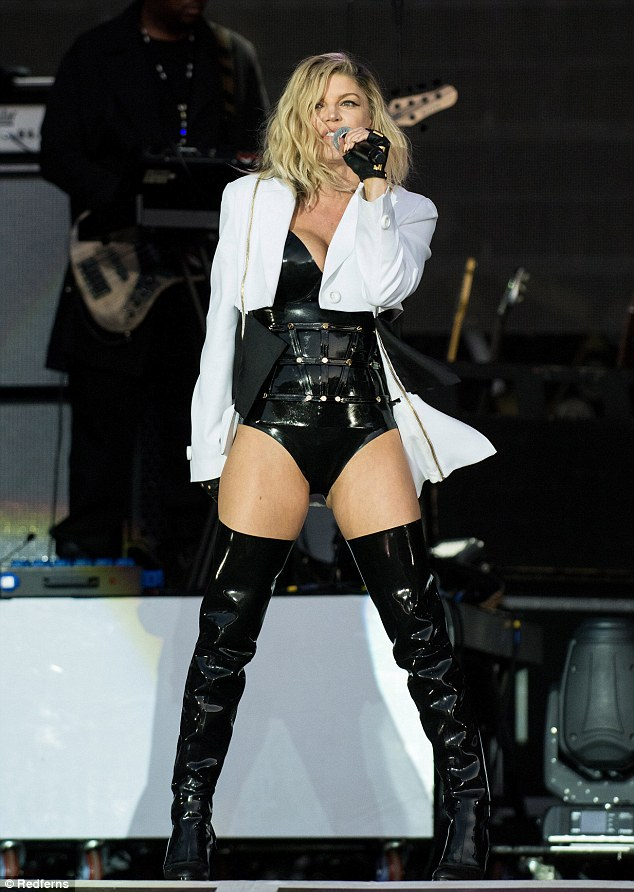 Ract: Fergie proved she knows how to whip up a storm on stage as she took to the main arena at the Rock in Rio festival in Lisbon on Friday