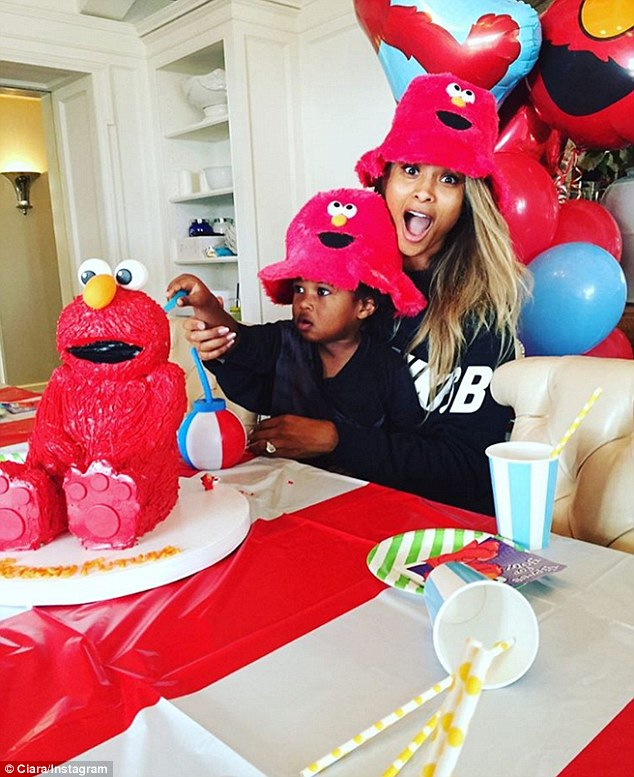 Child's play! Ciara celebrated her son Future Jr.'s second birthday on Thursday by throwing him an Elmo themed bash