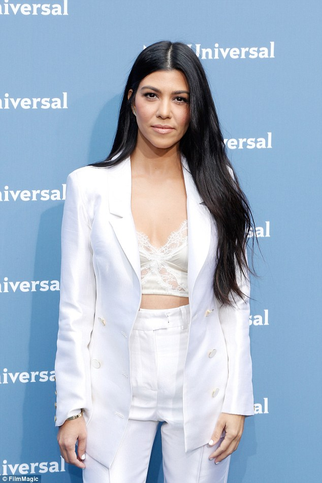 White hot: The mother-of-three flashed a sliver of her toned tum in a sexy white ensemble at the NBCUniversal 2016 Upfront in New York this week