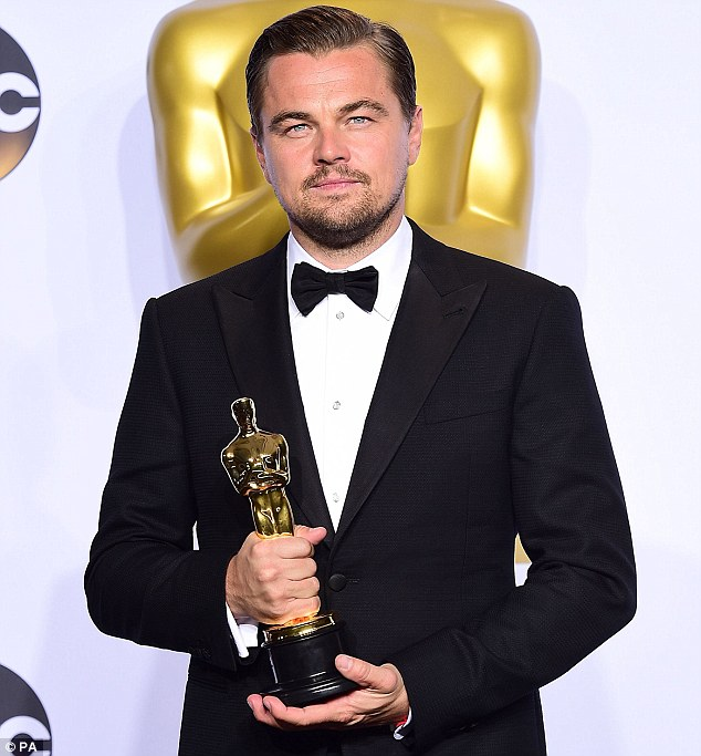 DiCaprio ended a long wait for an Oscar earlier this year when he scooped Best Actor for The Revenant