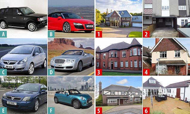 Can you match the house for sale with the car in its driveway?