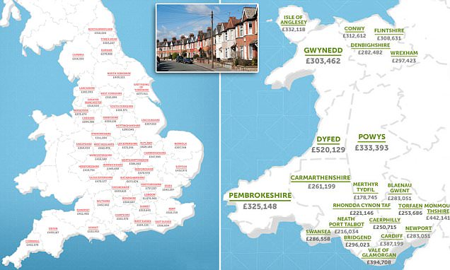 How much will your house be worth in 2030? Map of UK house price forecasts