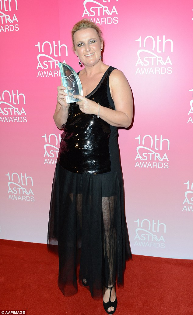 High honours: Donna won Most Outstanding Lifestyle program for her show Fast, Fresh, Simple at the 10th ASTRA Awards in Sydney in 2012