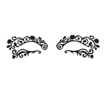 Face Lace Eye Lace Black Small