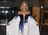 19 May 2016. Lady Victoria Hervey does her best Titanic impression as she poses up for pictures in an over the top dress at the cannes film festival. Credit: Neil Warner/Eade/GoffPhotos.com   Ref: KGC-102/195