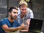 Parth Thakerar (Bashir) and Daniel Lapaine (Nick) in The Invisible Hand by Ayad Akhtar @ Tricycle Theatre. Directed by Indhu Rubasingham. (Opening-18-05-16) ©Tristram Kenton 05/16 (3 Raveley Street, LONDON NW5 2HX TEL 0207 267 5550  Mob 07973 617 355)email: tristram@tristramkenton.com