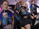 Iggy Azalea performs during a concert at Morocco's annual Mawazine Music Festival in Rabat, Morocco, Saturday, May 21, 2016. (AP Photo/Abdeljalil Bounhar)