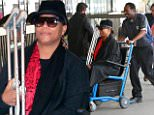 eURN: AD*207101727  Headline: EXCLUSIVE: Queen Latifah is seen in a wheelchair while holding her crutches as she catches a flight out of Los Angeles. Caption: EXCLUSIVE: Queen Latifah is seen in a wheelchair while holding her crutches as she catches a flight out of Los Angeles.  The legendary singer/actress/rapper was seen flying out of LAX.  Pictured: Queen Latifah Ref: SPL1287849  200516   EXCLUSIVE Picture by: Sharky/Polite Paparazzi/Splash  Splash News and Pictures Los Angeles: 310-821-2666 New York: 212-619-2666 London: 870-934-2666 photodesk@splashnews.com  Photographer: Sharky/Polite Paparazzi/Splash Loaded on 21/05/2016 at 18:25 Copyright: Splash News Provider: Sharky/Polite Paparazzi/Splash  Properties: RGB JPEG Image (113907K 1703K 66.9:1) 5400w x 7200h at 72 x 72 dpi  Routing: DM News : GeneralFeed (Miscellaneous) DM Showbiz : SHOWBIZ (Miscellaneous) DM Online : Online Previews (Miscellaneous), CMS Out (Miscellan