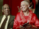 FILE - In this Oct. 26, 2009 file photo, comedian Bill Cosby, left, and his wife Camille appear at the John F. Kennedy Center for Performing Arts before he received the Mark Twain Prize for American Humor in Washington. According to a transcript of the deposition released Friday, May 20, 2016, Camille Cosby refused to answer dozens of questions during a combative February deposition. She was subjected to intense questioning by a lawyer for seven women who claim the comedian branded them as liars after they accused him of sexually assaulting them decades ago. (AP Photo/Jacquelyn Martin, File)