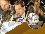Brad Pitt Filming more scenes for Allied in Grand Canaria. Brad has to rescue a stranded young fan as she was getting crushed my all the fans waiting to see him.   Pictured: Brad Pitt Ref: SPL1288219  220516   Picture by: Greg Sirc / Splash News  Splash News and Pictures Los Angeles: 310-821-2666 New York: 212-619-2666 London: 870-934-2666 photodesk@splashnews.com