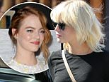 *EXCLUSIVE* Beverly Hills, CA - Emma Stone emerges from Meche salon in Beverly Hills with a new platinum blonde hairdo. The actress .was a little camera shy with her new style as she exited the salons back door for her car at the valet\n AKM-GSI   May  21, 2016\nTo License These Photos, Please Contact :\nSteve Ginsburg\n(310) 505-8447\n(323) 423-9397\nsteve@akmgsi.com\nsales@akmgsi.com\nor\nMaria Buda\n(917) 242-1505\nmbuda@akmgsi.com\nginsburgspalyinc@gmail.com