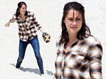 Picture Shows: Shailene Woodley  May 20, 2016    Actress Shailene Woodley is spotted on the set of 'Big Little Lies' filming in Monterey, California. During the beach scene, Shailene could be seen playing catch with a young boy.    EXCLUSIVE ALL ROUNDER  UK RIGHTS ONLY  FameFlynet UK © 2016  Tel : +44 (0)20 3551 5049  Email : info@fameflynet.uk.com