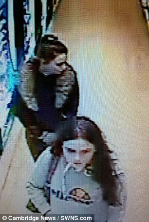 Francesca Galelli seen on CCTV (top) with friend Molly Curtis (bottom)