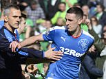 21/05/16 WILLIAM HILL SCOTTISH CUP FINAL RANGERS v HIBERNIAN HAMPDEN - GLASGOW Rangers captain Lee Wallace is ushered off the park at full-time
