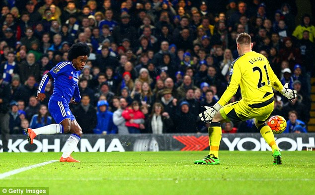 Willian was Chelsea's second highest scorer, second only to Diego Costa with 11 goals in all competitions