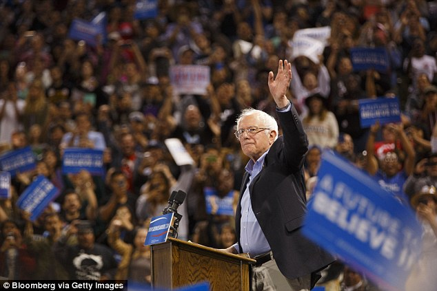 Bernie Sanders, a Vermont senator and self-described 'democratic socialist,' has vowed to fight Clinton all the way to July's Democratic National Convention