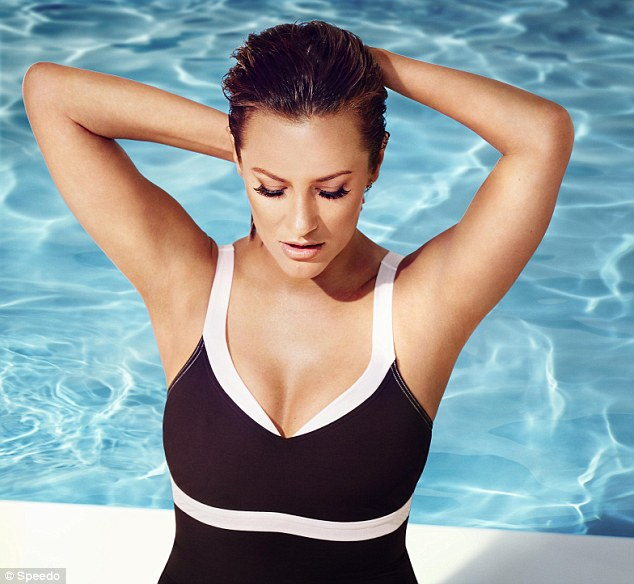 Busty display: The former Xtra Factor co-host, once romantically linked to One Direction's Harry Styles, recently revealed that she shed a stone in three months after adopting a 'hardcore' sugar-free diet