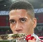 LONDON, ENGLAND - MAY 21:  Chris Smalling of Manchester United celebrates with the FA Cup trophy after The Emirates FA Cup final match between Manchester United and Crystal Palace at Wembley Stadium on May 21, 2016 in London, England.  (Photo by Matthew Peters/Man Utd via Getty Images)