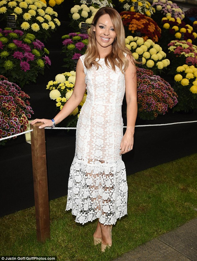 Summer ready: Katie Piper, 32, turned up to the Chelsea Flower Show at The Royal Hospital on Monday