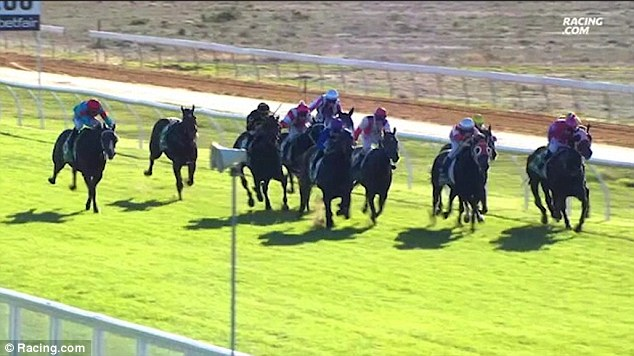 Payne's horse Dutch Courage continued to run the length of the race after she was thrown