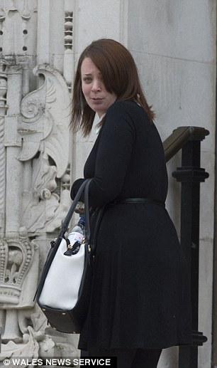 Chloe Thomas outside Cardiff Crown Court