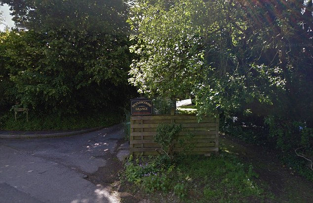 Scene: Keenan was on the holiday with his father and step mother Lisa, whose father owns Bicclescombe Grange near Ilfracombe (pictured)