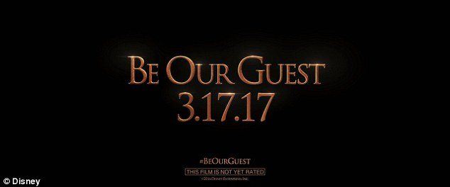 But not until next year: Beauty and the Beast will bow in US theatres on March 17, 2017