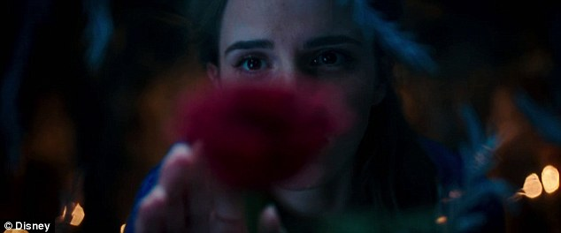 Enchanted: Emma Watson's Belle is lured by a single red rose in Disney's first official teaser trailer for Beauty and the Beast live-action remake