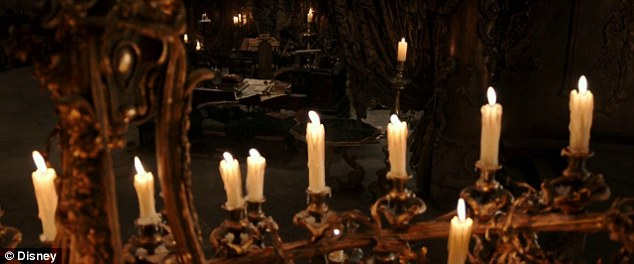 Flickering candles: Even the candles seem to be flickering in anticipation of what's to come
