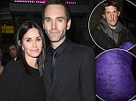 courtney cox and her partner Johnny McDaid from snow patrol at a charity event in manchester were courtney signed a sleeping bag for a homeless guy who had it already signed by pete doherty\\n\\nPICTURES BY STEPHEN  FARRELL\\n\\n*****EXC PICTURES*****