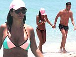 22.May.2016 - Miami Ò USA *** STRICTLY AVAILABLE FOR UK AND GERMANY USE ONLY *** Miami, FL - Professional footballer Cesc Fabregas and his girlfriend Daniella Semaan enjoy a dip in the ocean while vacationing in Miami. The two soak up the rays and work on their tan on Sunday afternoon. BYLINE MUST READ : AKM-GSI-XPOSURE ***UK CLIENTS - PICTURES CONTAINING CHILDREN PLEASE PIXELATE FACE PRIOR TO PUBLICATION *** *UK CLIENTS MUST CALL PRIOR TO TV OR ONLINE USAGE PLEASE TELEPHONE 0208 344 2007*