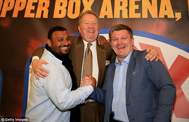 Prince Naseem (left) and Ricky Hatton's (right) problems are also chronicled in A Champion's Last Fight
