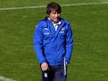 FLORENCE, ITALY - MAY 20:  Italian national team head coach Antonio Conte looks on during the Italy training session at the club's training ground at Coverciano on May 20, 2016 in Florence, Italy.  (Photo by Claudio Villa/Getty Images)
