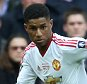 Manchester United's Marcus Rashford during the The Emirates FA cup final match between Crystal Palace v Manchester United played at Wembley Stadium, London on May 21st 2016