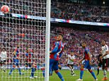 Manchester United's English midfielder Jesse Lingard (4th L) turns to celebrate after scoring their second goal in extra time during the English FA Cup final football match between Crystal Palace and Manchester United at Wembley stadium in London on May 21, 2016. / AFP PHOTO / IAN KINGTON / NOT FOR MARKETING OR ADVERTISING USE / RESTRICTED TO EDITORIAL USEIAN KINGTON/AFP/Getty Images