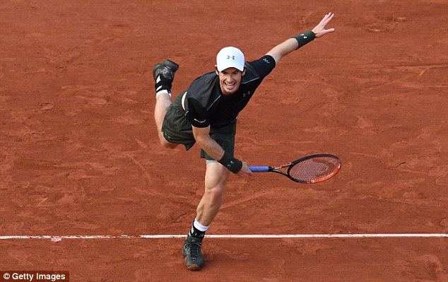 Having changed into a black shirt, Murray looks to overturn a two-deficit againstStepanek