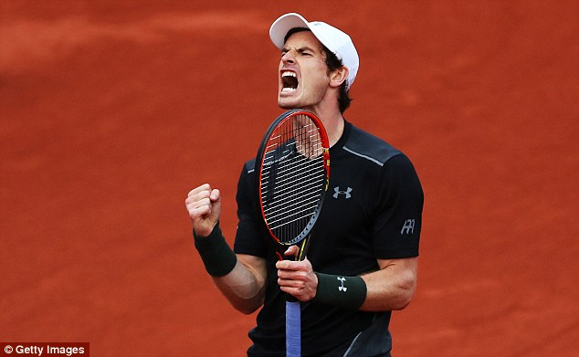 Murray screams with delight as he storms back in third set in emphatic fashion - taking it out 6-0