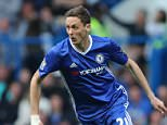 Chelsea Holding Midfield Player Nemanja Matic  during   the Barclays Premier League match between Chelsea and Leicester City played at Stamford Bridge, London on 15th May 2016