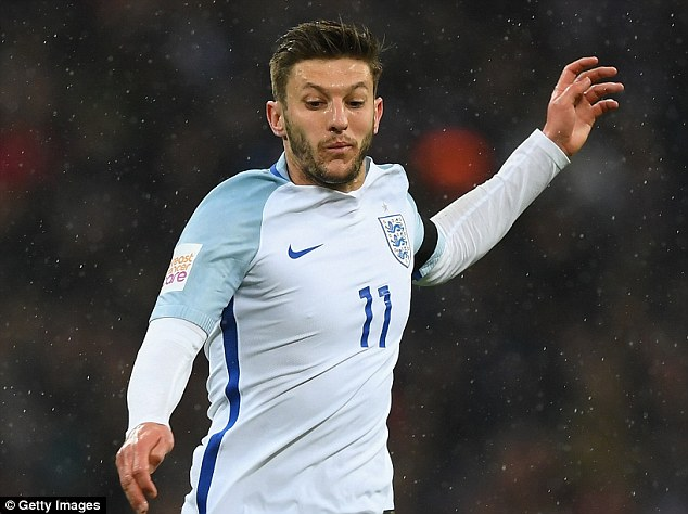 Adam Lallana is set to be handed a starting place in the England side at the European Championship