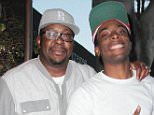 """22 May 2016 - Los Angeles - USA *** EXCLUSIVE ALL ROUND PICTURES *** Bobby Brown leaves Madeo restaurant Hollywood with Woody McClain, who will play Bobby in an upcoming BET biopic """"New Edition:The Movie"""" currently filming in Los Angeles.  Bobby is a co-producer of the project. BYLINE MUST READ : XPOSUREPHOTOS.COM ***UK CLIENTS - PICTURES CONTAINING CHILDREN PLEASE PIXELATE FACE PRIOR TO PUBLICATION *** **UK CLIENTS MUST CALL PRIOR TO TV OR ONLINE USAGE PLEASE TELEPHONE  44 208 344 2007**"""