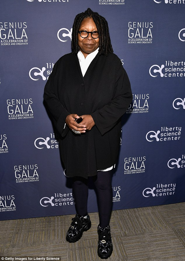 New project: Whoopi Goldberg - pictured in New Jersey on Friday - is set to produce a new reality show centred on transgender models according to a Monday report from People